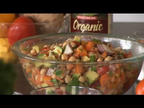 Mexican Chick Pea Salad : Healthy Salads