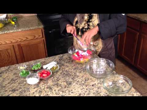 Mango Watermelon Salad : Making Salads