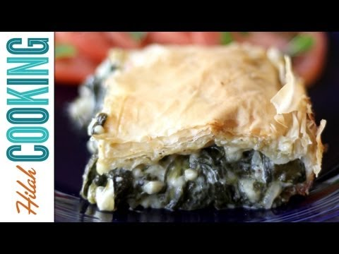 Spanakopita Recipe | Greek Spinach and Cheese Pastry | Hilah Cooking
