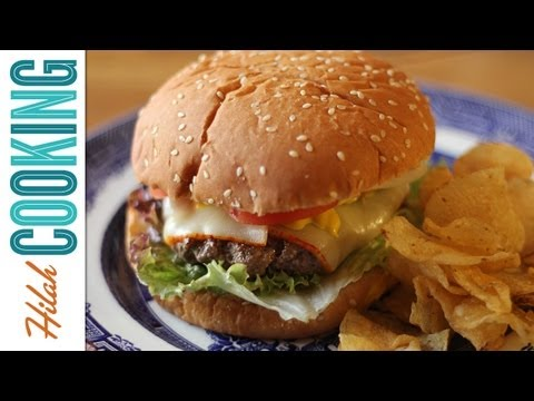How To Make a Cheeseburger  |  Perfect, Juice Cheeseburger Recipe  |  Hilah Cooking