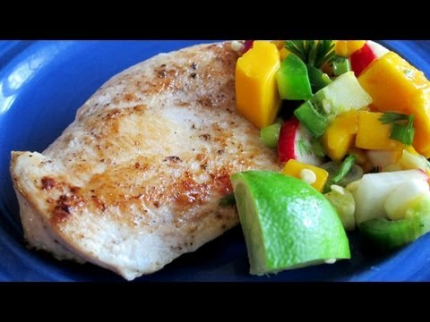 Caribbean Chicken with Mango Salsa Recipe – Quick Meal Idea