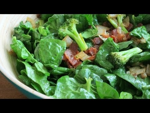 Bacon Spinach Salad Recipe | HilahCooking