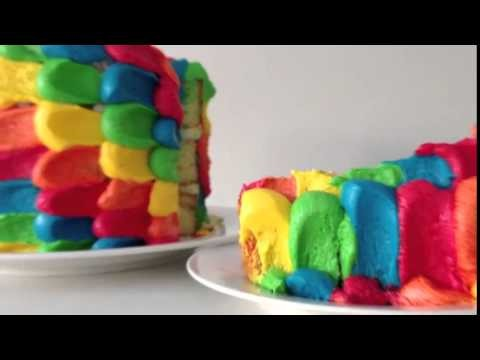 2014  COOKING Rainbow Cake Decoration HOW TO Cook That Ann Reardon