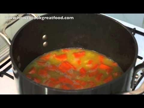 Carrot & Coriander Cliantro soup recipe How to cook GREAT food vegetarian vegan option