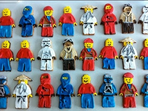 How to make lego man cookies / biscuits tutorial  How to Cook That by Ann Reardon
