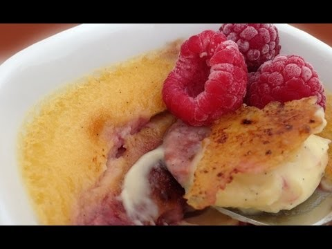 Raspberry Creme Brulee Dessert Recipe HOW TO COOK THAT crem brullee Ann Reardon