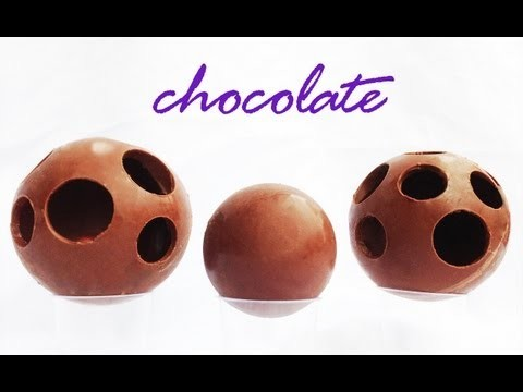 How to Make a Chocolate Ball Sphere Decoration HOW TO COOK THAT Ann Reardon