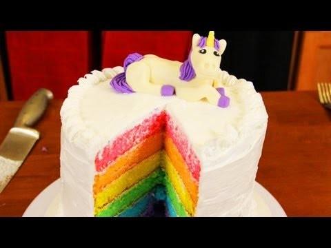 HOW TO MAKE A RAINBOW CAKE – NERDY NUMMIES