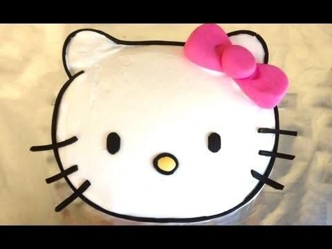 Easy Hello Kitty Cake HOW TO COOK THAT hello kitty cake Ann Reardon