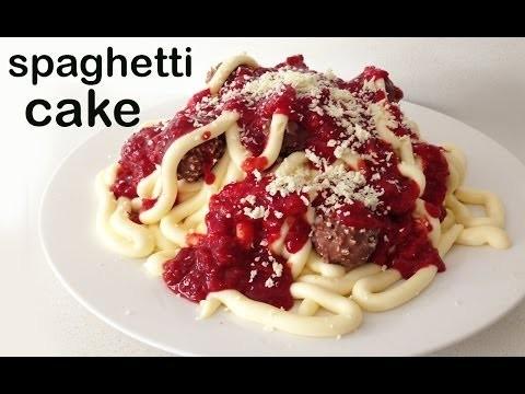 Spaghetti Birthday Cake HOW TO COOK THAT Ann Reardon