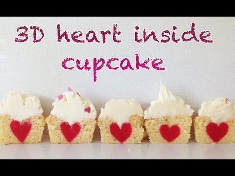 3D Heart Inside Cupcake HOW TO COOK THAT Ann Reardon