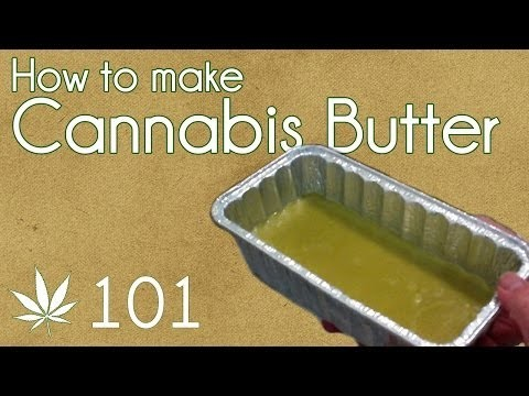 How To Make Cannabis Butter Cooking With Marijuana #101 Cannabutter Edibles Base