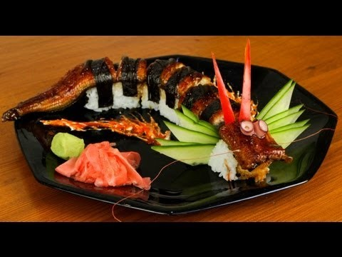 Dragon Sushi Roll Recipe – Japanese Food (delicious)