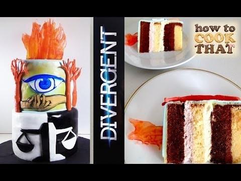 Divergent Cake HOW TO COOK THAT Ann Reardon Divergent Movie Book Cake