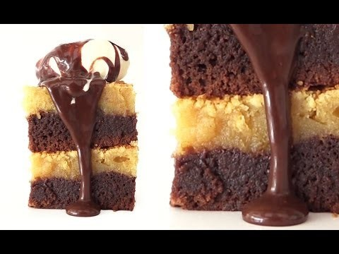 Gooey Chocolate Peanut Butter Brownies Recipe HOW TO COOK THAT Ann Reardon