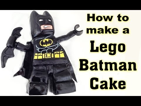 Lego Batman Cake HOW TO COOK THAT Beyond Gotham Cake, PS3, PS4, Xbox, Lego Movie Ann Reardon