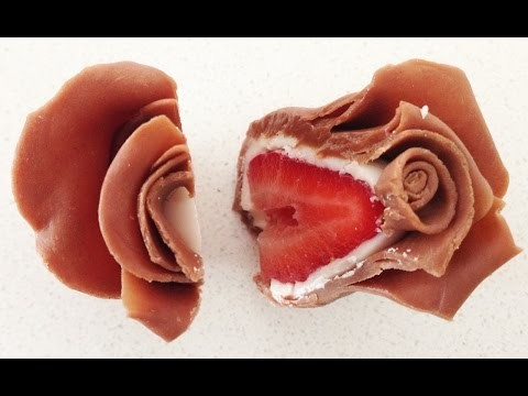 Chocolate Strawberry Roses HOW TO COOK THAT Ann Reardon