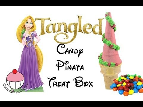 "Make a Rapunzel ""Tangled"" Treat Box or Cupcake – A Cupcake Addiction How To Tutorial"