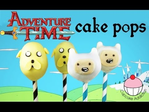 Adventure Time Cake Pops! How to Make Finn & Jake from Adventure Time – by Cupcake Addiction
