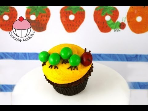 Kids Cupcakes! Very Hungry Caterpillar Cupcakes – A Cupcake Addiction How To Decorating Tutorial