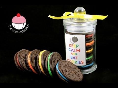 Rainbow Oreo Cookie Jars – Easy No-Bake Recipe! A Cupcake Addiction How To Tutorial