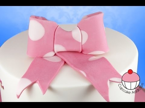 Sugar Bow Tutorial – How to make a Fondant Bow for Cakes & Cupcakes – by Cupcake Addiction