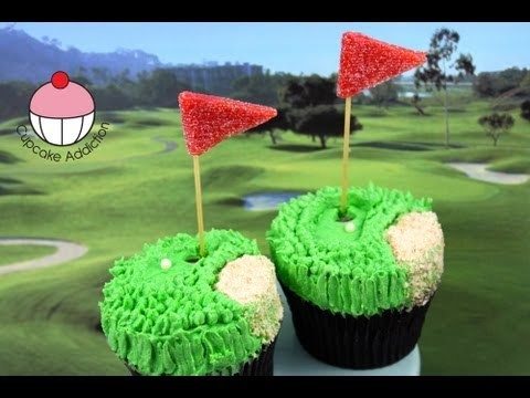 Golf Cupcakes! Make Golf Pro Cupcakes for Dad – A Cupcake Addiction How To Tutorial
