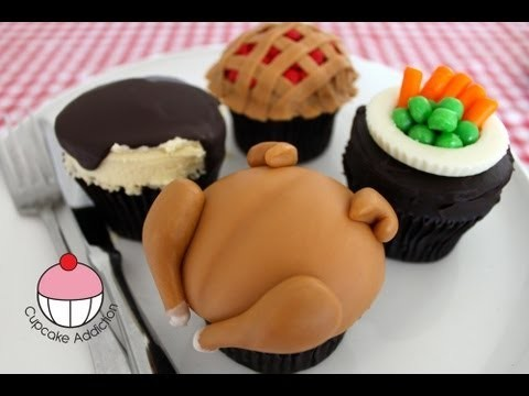 Turkey Feast Cupcakes (Part 2) Thanksgiving Chicken Dinner –  A Cupcake Addiction How To Tutorial