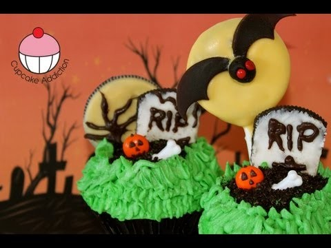 Halloween Cupcakes — Decorate a Spooky Graveyard Cupcake — A Cupcake Addiction How To Tutorial