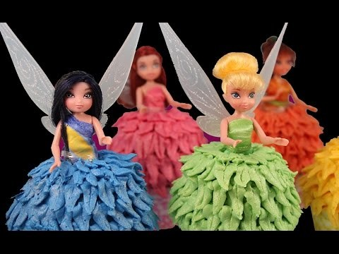 TINKERBELL FAIRY CUPCAKES! How to make Tinkerbell & Friends Fairy Princess Cupcakes