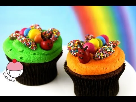 Cupcakes! Kids Butterfly Garden Cupcakes – A Cupcake Addiction How To Decorating Tutorial