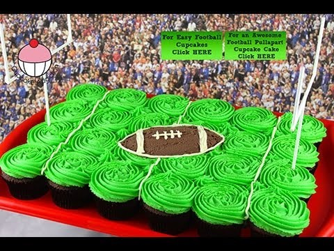 Superbowl Football Pullapart Cupcake Cake – A Cupcake Addiction How To NFL Tutorial