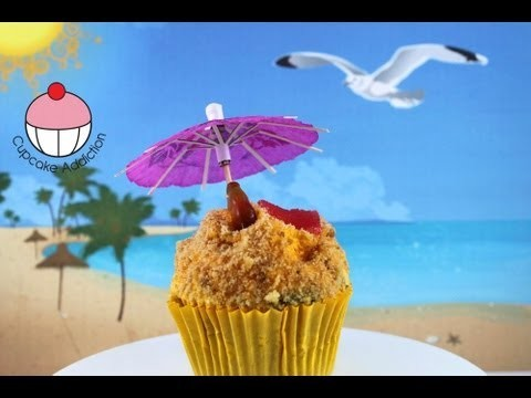 Beach Cupcakes! Decorate Tropical Beach Cupcakes – A Cupcake Addiction How To Tutorial