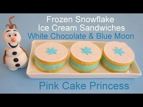 Frozen Ice Cream Sandwiches! White Chocolate & Blue Moon Ice Cream Recipe by Pink Cake Princess