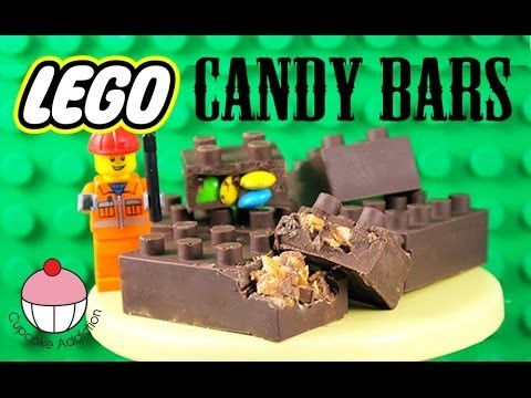 LEGO Candy Bars! How to Make NO BAKE Chocolate Lego Bricks with Cupcake Addiction