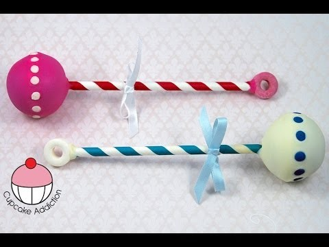 Baby Rattle Cake Pops! Make Cute Baby Shower Treats – A Cupcake Addiction How To Tutorial