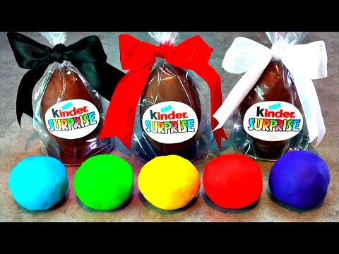Kinder Surprise Eggs Mickey Mouse Guardians of Galaxy Frozen Play-Doh MyCupcakeAddiction FluffyJet