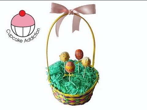 Make an Easter Basket CakePop Stand! A Cupcake Addiction How To Display Cake Pops Tutorial