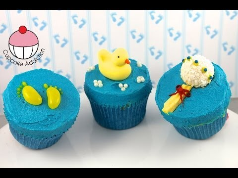 Make Simple Baby Shower Cupcakes! – A Cupcake Addiction How To Tutorial
