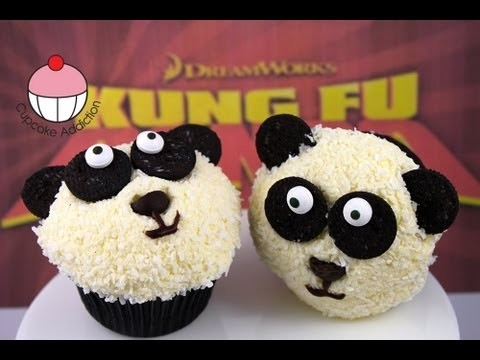 "Panda Cupcakes – Make ""Kung Fu"" Panda Cupcakes – A Cupcake Addiction How To Tutorial"