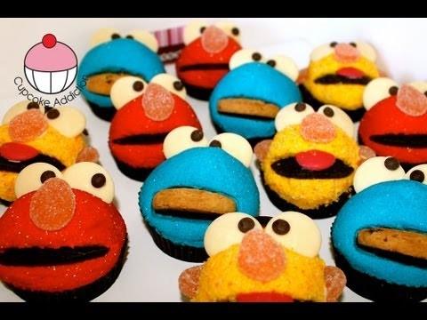 ELMO Cupcakes! Make Elmo Sesame Street Cupcakes – A Cupcake Addiction How To Tutorial