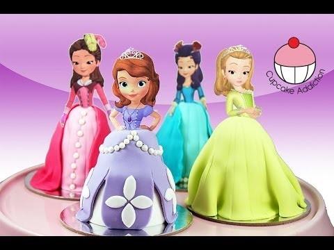 PRINCESS CUPCAKES – Make Sofia the First Mini Disney Cakes with Cupcake Addiction