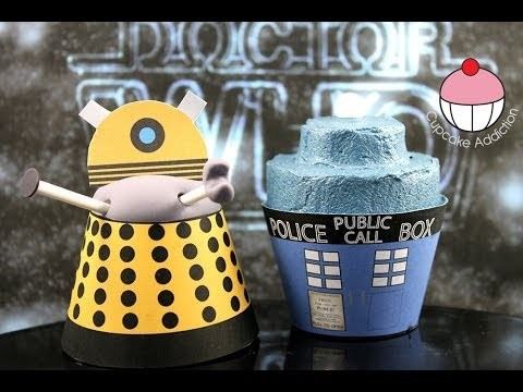Dr Who Cupcakes! Make Dalek & Tardis Cupcakes for the Dr Who 50th Anniversary – Cupcake Addiction
