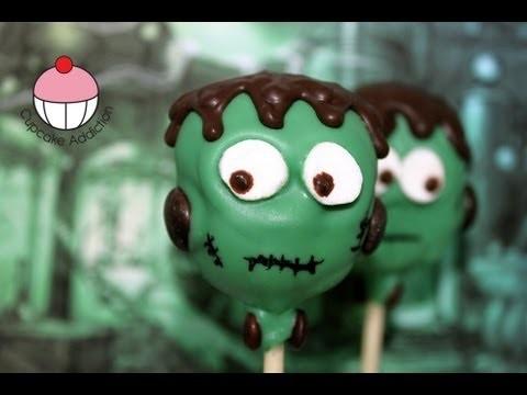 Halloween Cakepops – Make a FRANKENSTEIN Spooky Cake Pop – A Cupcake Addiction How To Tutorial