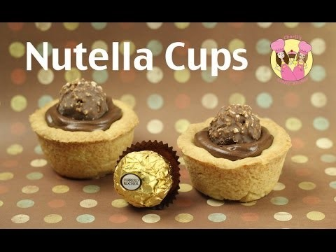 NUTELLA CUPS – make these yummy nutella ferrero tarts using our cookie dough recipe! Mothers day