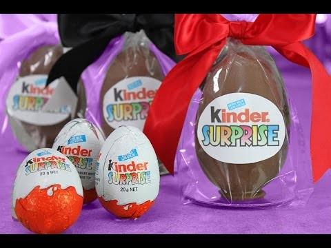 Giant Kinder Surprise – DIY Kinder Eggs with My Cupcake Addiction & FluffyJet
