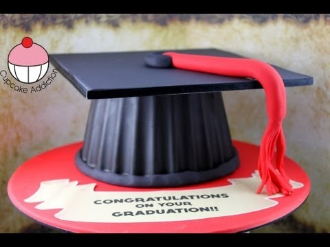 Make a Graduation Hat Cake Using your Giant Cupcake Mould! – A Cupcake Addiction How To Tutorial