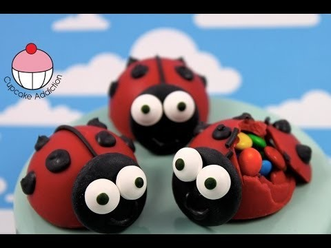 Make NO BAKE Lady-Bug Chocolate Piñata Pops – A Cupcake Addiction How To Tutorial