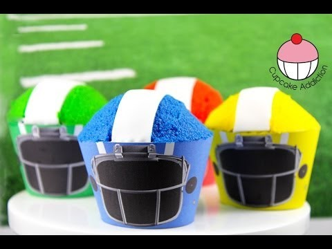 Superbowl Cupcakes! How To Make Simple Football Helmet Cupcakes – A Cupcake Addiction Tutorial