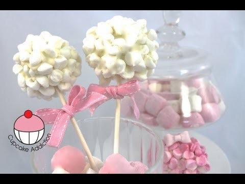 CAKEPOPS! Decorate a Marshmallow Cloud Cake Pop – A Cupcake Addiction How To Tutorial